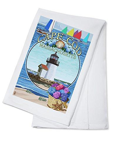 - Cape Cod, Massachusetts - Montage (100% Cotton Kitchen Towel)