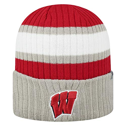 (Top of the World NCAA Sub-Zero Cuffed Knit Beanie Hat-Wisconsin Badgers)