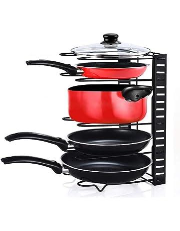Home-Neat Pan Bakeware Organizador Rack de Almacenamiento, Utensilios de Cocina Ajustable Panera Soportes