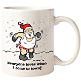 BigMouth BM1782 Color Changing Santa Mug, White