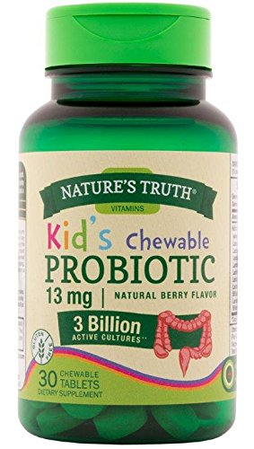 - Nature's Truth Probiotic Kids Chewable 3 Billion Supplement, Natural Berry, 30 Count