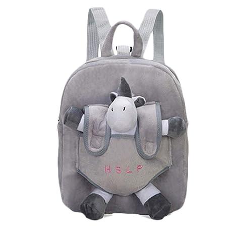 Mochilas escolares lindas de la mochila de los niños del flamenco del unicornio 3D con el