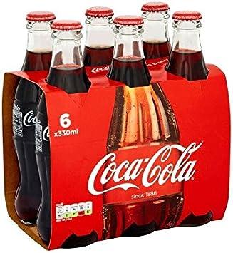 Coca Cola Botellas De Vidrio (6X330ml) (Paquete de 2): Amazon.es: Hogar