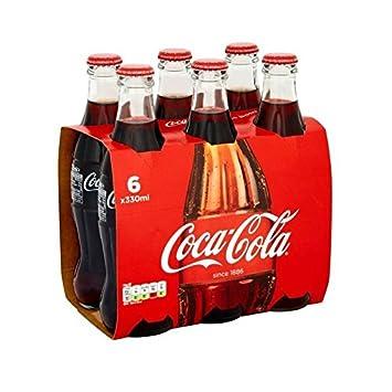 Coca Cola Botellas De Vidrio (6X330ml) (Paquete de 2)