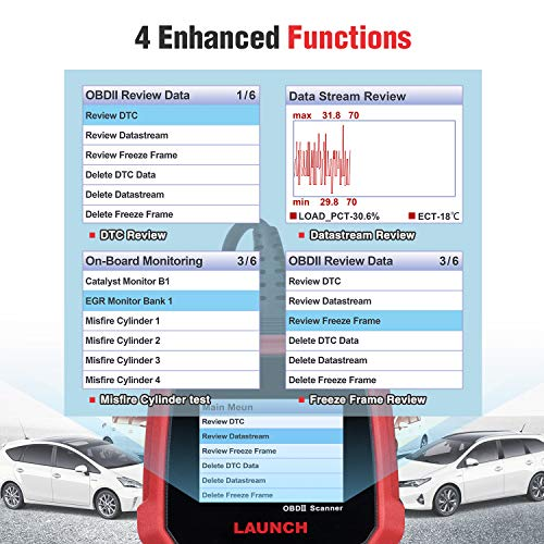 LAUNCH Creader 3008 2018 OBD2 Scanner Engine Scan Tool Automotive Diagnostic Tool with Battery Test and Print Function, Support O2 Sensor/Evap System Test/Check Engine Light/Graph Data Stream by LAUNCH (Image #3)