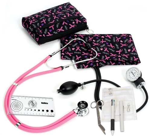 (Prestige Medical Supplies 'Aneroid Sphygmomanometer / Sprague-Rappaport Nurse Kit®' Hope Pink Ribbons)