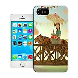 Unique Phone Case Girl On the back of a tiger Hard Cover for 4.7 inches iPhone 6 cases-buythecase