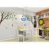 Oren Empower (2pc/Set) Flying Bird Cage On Lovely Spring Tree PVC Vinyl Extra Large Wall Sticker (Finished Size on Wall - 270(w) x 115(h) cm)