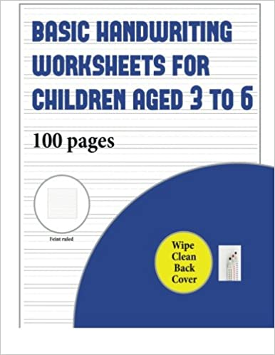 Basic Handwriting Worksheets For Children Aged 3 To 6 Wipe Clean