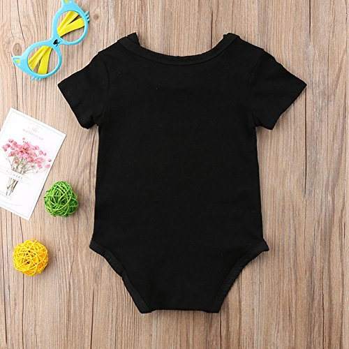 Calsunbaby Infant Newborn Unisex Baby Boys Romper Short Sleeve Romper Bodysuit Girls Outfits