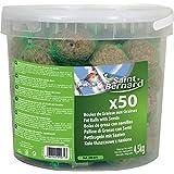 SAINT BERNARD Seau de 50 Boules Graisse pour Oiseau 4,5 kg