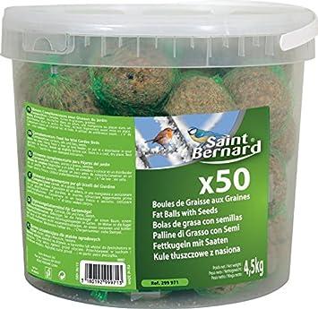 SAINT BERNARD Seau de 50 Boules Graisse pour Oiseau 4,5 kg  Amazon ... 22f6fd7fbbc4