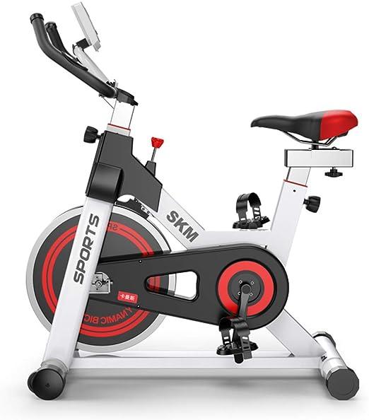 Bicicleta estática aeróbica para entrenamiento en interiores, manivela de 3 piezas, monitor de 5 funciones, sistema de parada de emergencia, manillares ergonómicos con sensores de frecuencia cardíaca: Amazon.es: Jardín