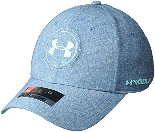 Under Armour mens Jordan Spieth UA Tour Cap, Static Blue (414)/Venetian Blue, - Crown Venetian