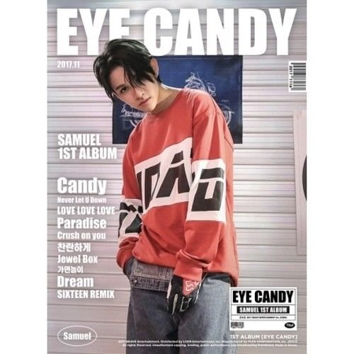 (Samuel - [Eye Candy] 1st Album CD+40p Photobook+16p Lyrics Booklet+3p PostCard+1p Concept PhotoCard+1p Special PhotoCard+1p Mini PhotoCard K-POP Sealed)