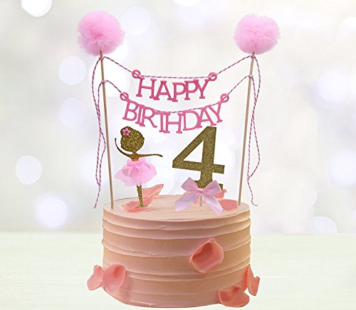 Fourth Birthday Cake Toppers,