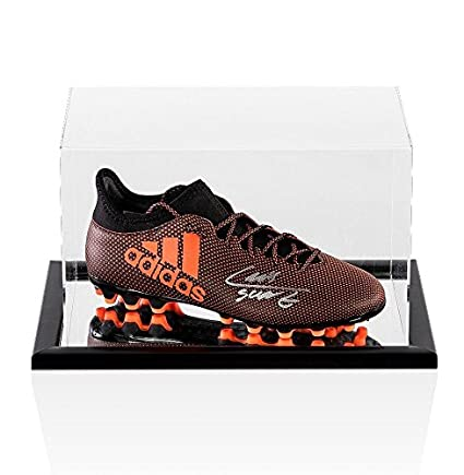 Luis Suarez Signed Football Boot Adidas Burnt Orange - In Acrylic Display  Case - Autographed Soccer Cleats at Amazon s Sports Collectibles Store e8d273365