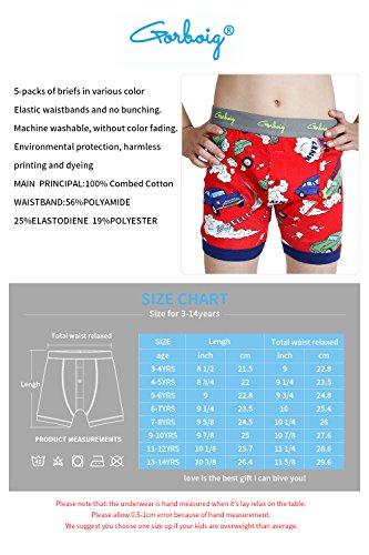 dd4563626782d Amazon.com  Gorboig Boys 5-Pack Boxer Briefs Cars Truck Kids Underwear   Clothing