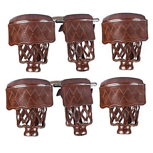 East Eagle PU Leather Pool Table Billiard Table Pockets Diamond Pattern Shield Set Included Screws (Walnut) ()