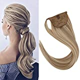 Best Hair Extension Ponytail Real Hairs - VeSunny 16inch Human Hair Wrap Around Clip on Review