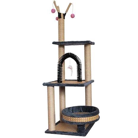 GCHOME Árbol de Gato Estructura de Escalada para Gatos, sisal Corto, Felpa Natural Torre