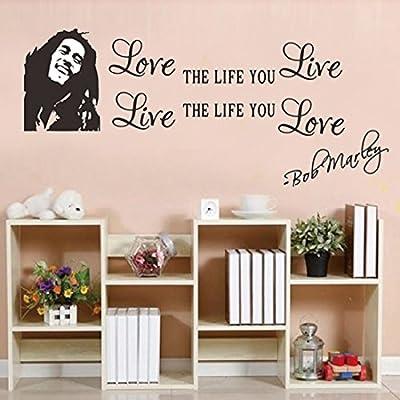 Joylive Love The Life You Live Bob Marley Vinyl Wall Sticker Wall Art Home Decal D¨¦cor