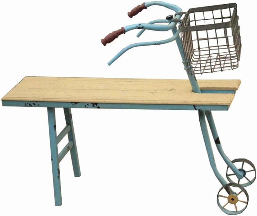 YYHSND Flor Marco Jardín Carnosa Maceta Estante Antigüedades Bicicleta Decoración Marco Madera Maciza Hierro Forjado Estante Puesto de Flores