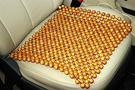 Reduces Fatigue the Car or Truck or your office Chair Natural Wood Bead Seat Cover Cool Comfort Cushion LevenLi brown