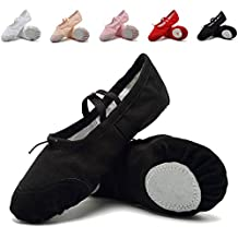 Zicoope Ballet Slippers for Girls Classic Split-Sole Canvas Dance Gymnastics Yoga Shoes Flats