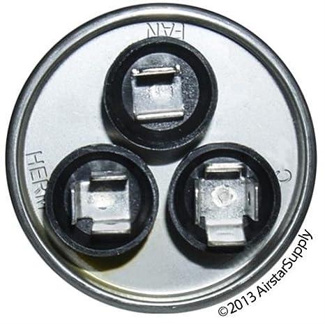 100335-12 - 45 + 5 Uf MFD 440 Volt VAC - Lennox Round Dual Run ...