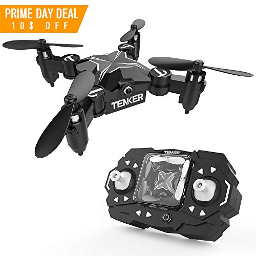 TENKER Skyracer Mini RC Helicopter Drone for kids Quadcopte with Altitude Hold 3D Flips and Headless Mode One key take off/landing good choice for Beginners (Rc Full Helicopter Function)