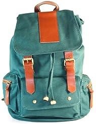 AM Landen Cute Canvas Backpack, Day Bag, Multifunction Backpack (Green)