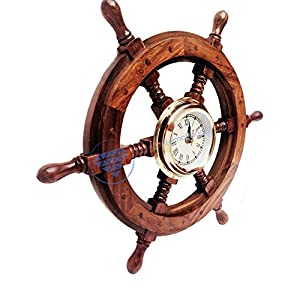 51czzb6LS%2BL._SS300_ Best Ship Wheel Clocks