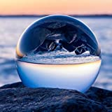Clear Crystal Ball Stand, Ball Lens AROGEAR 3.14''/80mm Art Decor K9 Crystal Prop Photography Decoration (80mm)