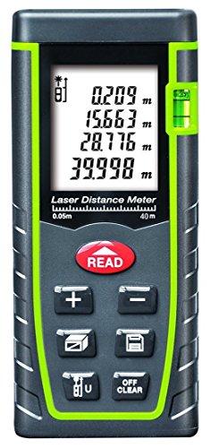 ARAS Laser Distance Meter 40m, Portable Handle Digital Measure Tool Range...
