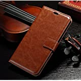 RKMOBILES Leather Flip Case Cover for Swipe Elite Note - Brown