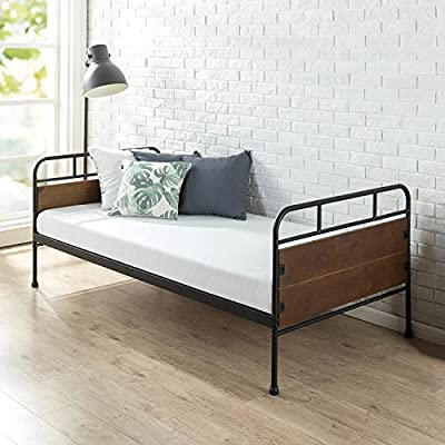 Zinus Eli Twin Daybed Frame / Premium Steel Slat Support - Designed to fit one standard Twin mattress (sold separately) Premium steel slat support Easy assembly in minutes - bedroom-furniture, bedroom, bed-frames - 51d%2B%2BIlIAbL. SS400  -