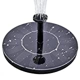 GOGOOUT Solar Fountain, Solar Powered Bird bath Fountains Pump Freestanding Submersible with 1.4W Solar Panel Kit, for Small Pond, Fish Tank, Garden Decoration