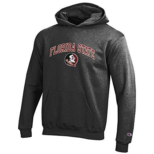 (Elite Fan Shop Florida State Seminoles Kids Hooded Sweatshirt Varsity Charcoal - L)