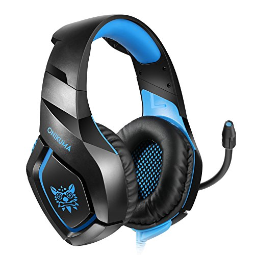 Willnorn Gaming Headset for PS4 Xbox One Controller Nintendo Switch PC Laptop Mac Game with Mic Over Ear Headphone High Performance Stereo Sound with Bass