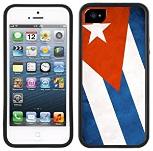 Cuba Flag Handmade iPhone 5 Black Bumper Plastic Case
