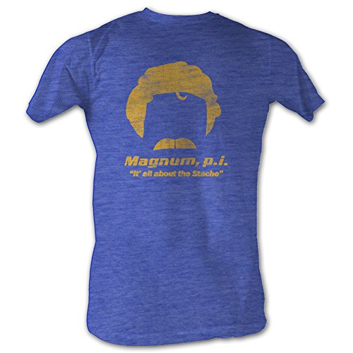 About the Stache Navy T-shirt [Apparel] XL (Magnum Apparel)