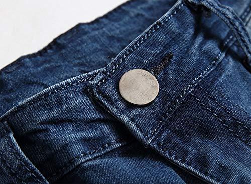 Piedi Piccoli Blue Versaces Jeans Maschi Elasticità Libero Tempo Fori Stretto Pantaloni v4qRYZn