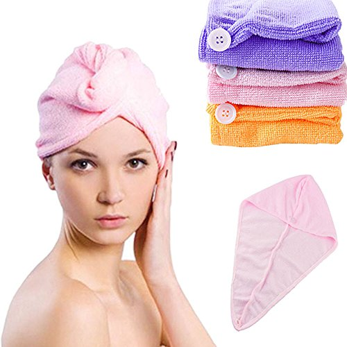 Super Fast Microfiber Fabric Absorbing Water Dry Hair Ponytail Holder Cap towel