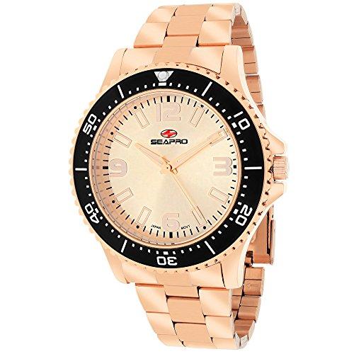 Seapro Men's SP5334 Analog Display Quartz Rose Gold Watch