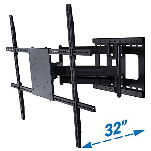 Full Motion TV Wall Mount with 32 inch Long Extension for 42 to 80 inch TVs (65 For Tv Corner Tv Inch Cabinet)