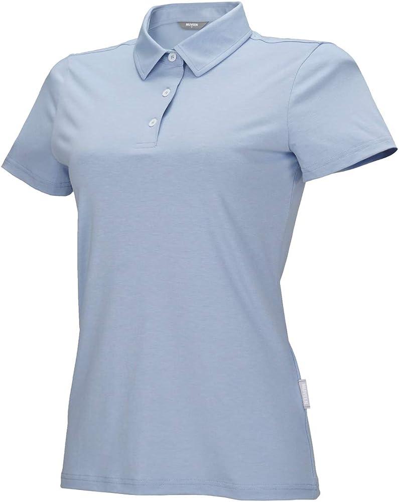 MUVEEN Mujer Performance Nature Tencel Polo T-Shirt, Stylish Soft ...
