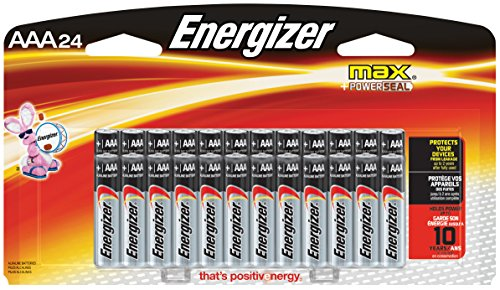 Price comparison product image Energizer AAA Batteries, Triple A Battery Max Alkaline (24 Count) E92BP-24