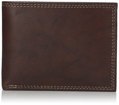Buxton Men's Hunt Credit Card Billfold Wallet, Brown, One...