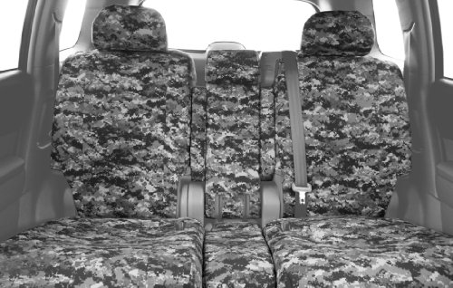 20 Front Split Seat - CalTrend Front Row 40/20/40 Split Bench Custom Fit Seat Cover for Select Dodge Models - Camouflage (Urban)